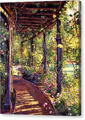 Rose Arbor Toluca Lake Canvas Print by David Lloyd Glover
