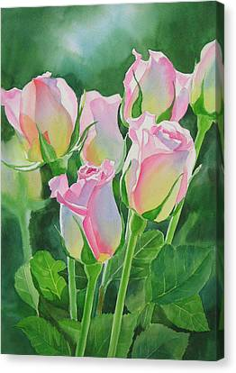 Rose Array Canvas Print by Sharon Freeman