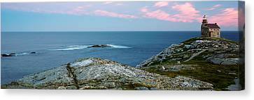 Rose Blanche Lighthouse At Coast Canvas Print