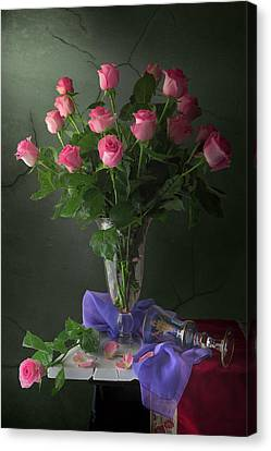 Rose Blossoms Canvas Print by Giovanni Allievi