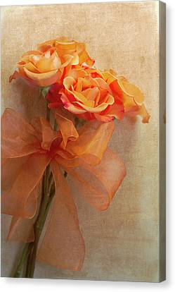 Rose Bouquet Canvas Print by Rebecca Cozart