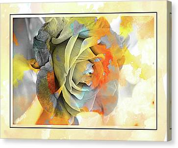 Canvas Print featuring the photograph Rose Bud by Athala Carole Bruckner