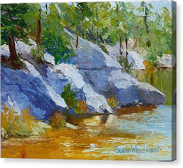 Rose Canyon Lake Canvas Print by Susan Woodward