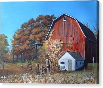 Rose Center Barn Canvas Print