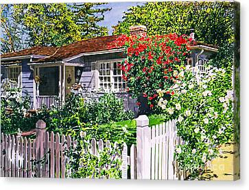 Rose Cottage  Canvas Print by David Lloyd Glover