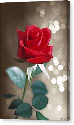 Rose Canvas Print by Davonte Bailey