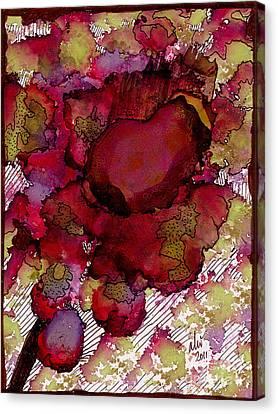 Rose Deep Canvas Print by Angela L Walker