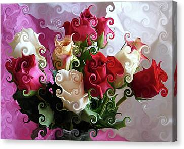 Rose Dreams Canvas Print by Angie Baker