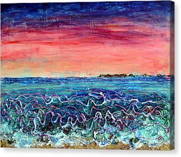 Rose Dusk Beach Canvas Print
