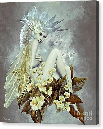 Rose Fairy Canvas Print by Ali Oppy