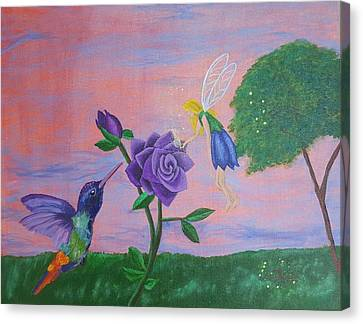 Rose Fairy Canvas Print by Dawn Jones