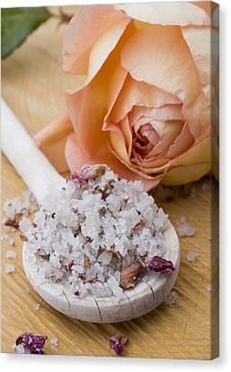 Rose-flavored Sea Salt Canvas Print by Frank Tschakert