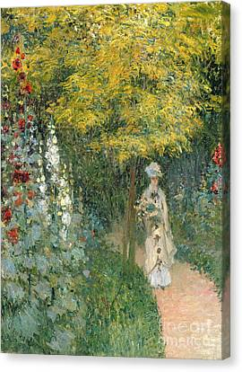 Rose Garden Canvas Print by Claude Monet