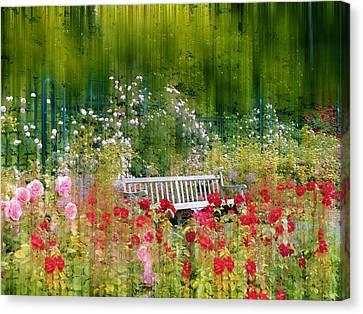 Rose Garden Impressions Canvas Print by Jessica Jenney