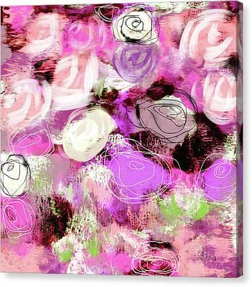 Rose Garden Promise- Art By Linda Woods Canvas Print