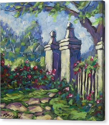 Rose Garden Canvas Print by Richard T Pranke