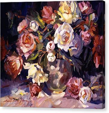 Rose Impressions Canvas Print by David Lloyd Glover