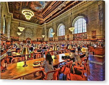 Canvas Print - Rose Main Reading Room - N Y Public Library by Allen Beatty