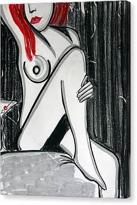 Rose Martini Canvas Print by Cat Jackson