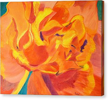 Heart Of A Rose Canvas Print