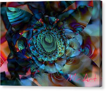 Canvas Print featuring the photograph Rose Motif by Miriam Shaw