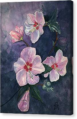 Rose Of Sharon Canvas Print by Katherine Miller