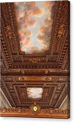 Rose Reading Room Ceiling Canvas Print by Jessica Jenney