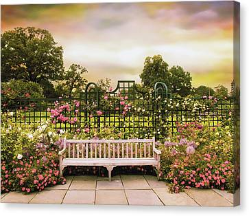 Canvas Print featuring the photograph Rose Respite by Jessica Jenney