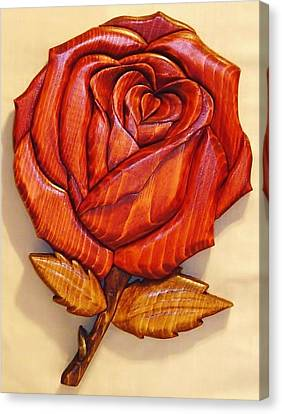 Rose Canvas Print by Russell Ellingsworth