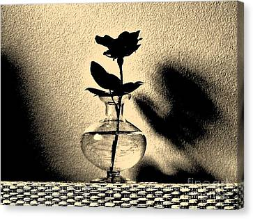 Rose Sillouette Canvas Print