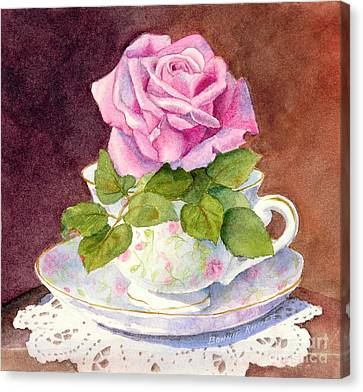 Rose Tea Canvas Print