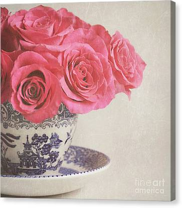 Canvas Print featuring the photograph Rose Tea by Lyn Randle