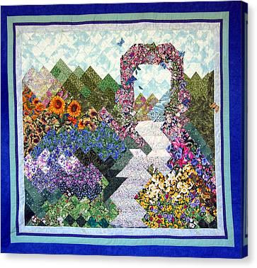 Rose Trellis Garden Canvas Print by Sarah Hornsby