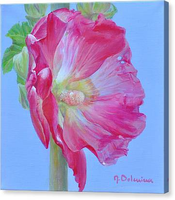 Rose Tremiere Canvas Print by Muriel Dolemieux