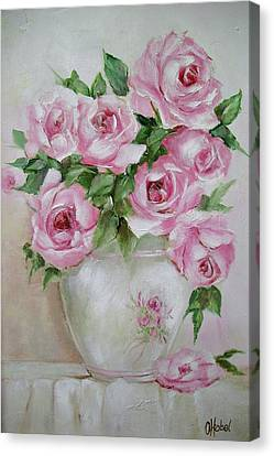 Rose Vase Canvas Print