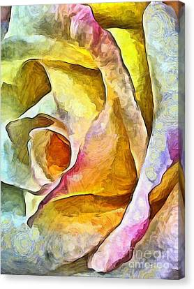 Abstract Nature Canvas Print - Rose Whimsy by Krissy Katsimbras
