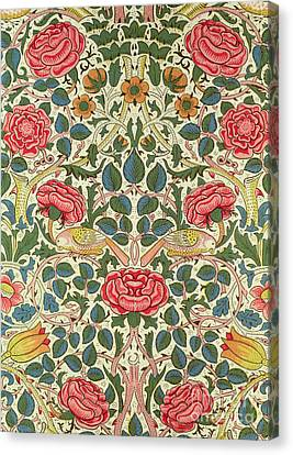 Repeat Canvas Print - Rose by William Morris