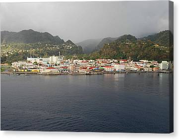 Canvas Print featuring the photograph Roseau Dominica by Gary Wonning