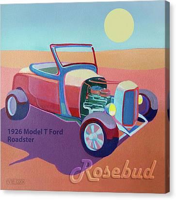 Rosebud Model T Roadster Canvas Print