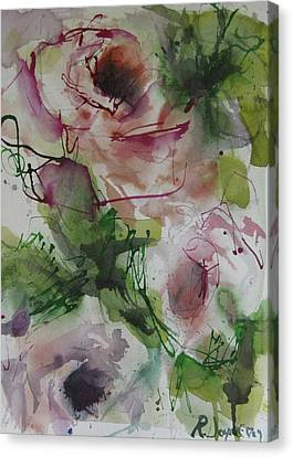 Canvas Print featuring the painting Rosebuds by Robert Joyner