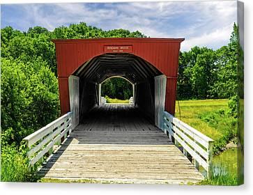 Roseman Covered Bridge Madison County Iowa  -  Std2 Canvas Print by Frank J Benz