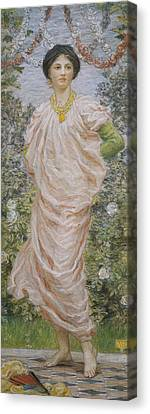 Roses Canvas Print by Albert Joseph Moore