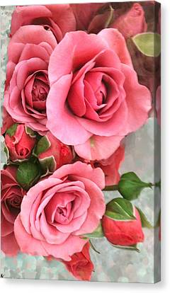 Roses And Buds Canvas Print by Debra     Vatalaro