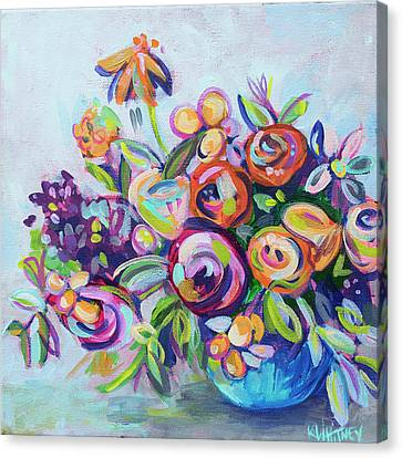 Roses And Kumquats Canvas Print by Kristin Whitney