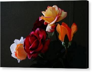 Canvas Print featuring the photograph Roses Are Forever 1 by J Cheyenne Howell
