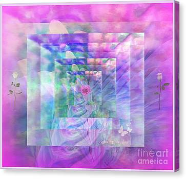 Arcylic Canvas Print - Roses Are Red Violets Are Blue These Roses Are Just For You by Sherri's Of Palm Springs