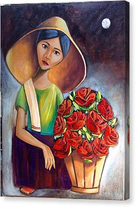Roses Are Ref Canvas Print by Khristina Manansala