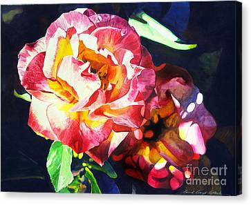 Roses Canvas Print by David Lloyd Glover