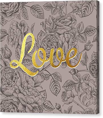 Roses For Love Canvas Print by BONB Creative