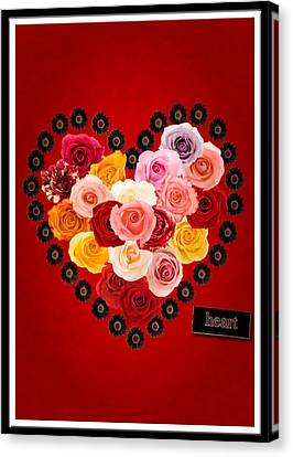 Be My Valentine Canvas Print - Roses For My Dear Love by Lisa Knechtel